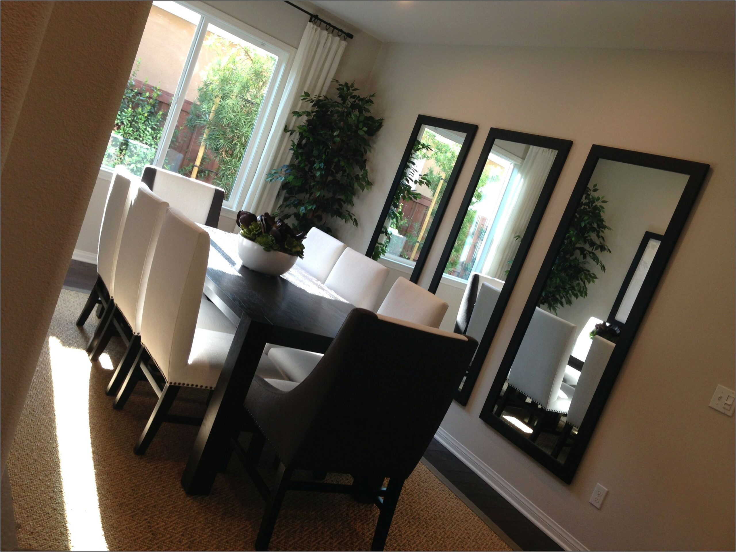Three Mirrors In Dining Room Ideas Mirror Dining Room Dining Room Walls Dining Room Mirror Wall