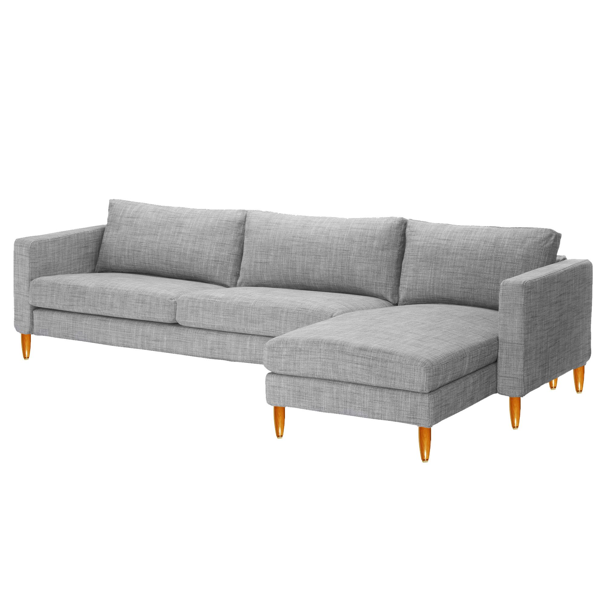 ikea karlstad sofa chaise with new legs 610 total bought - Ikea Karlstad Sofa