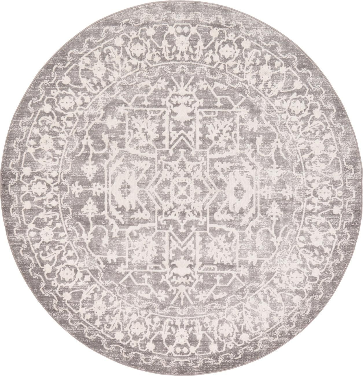Light Gray 6 X New Vintage Round Rug Area Rugs Erugs 199