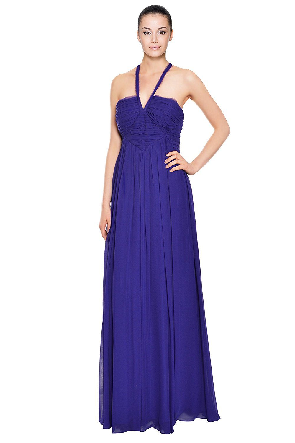 Robert Rodriguez Ultraviolet Silk Ruched Chiffon Long Evening Gown ...