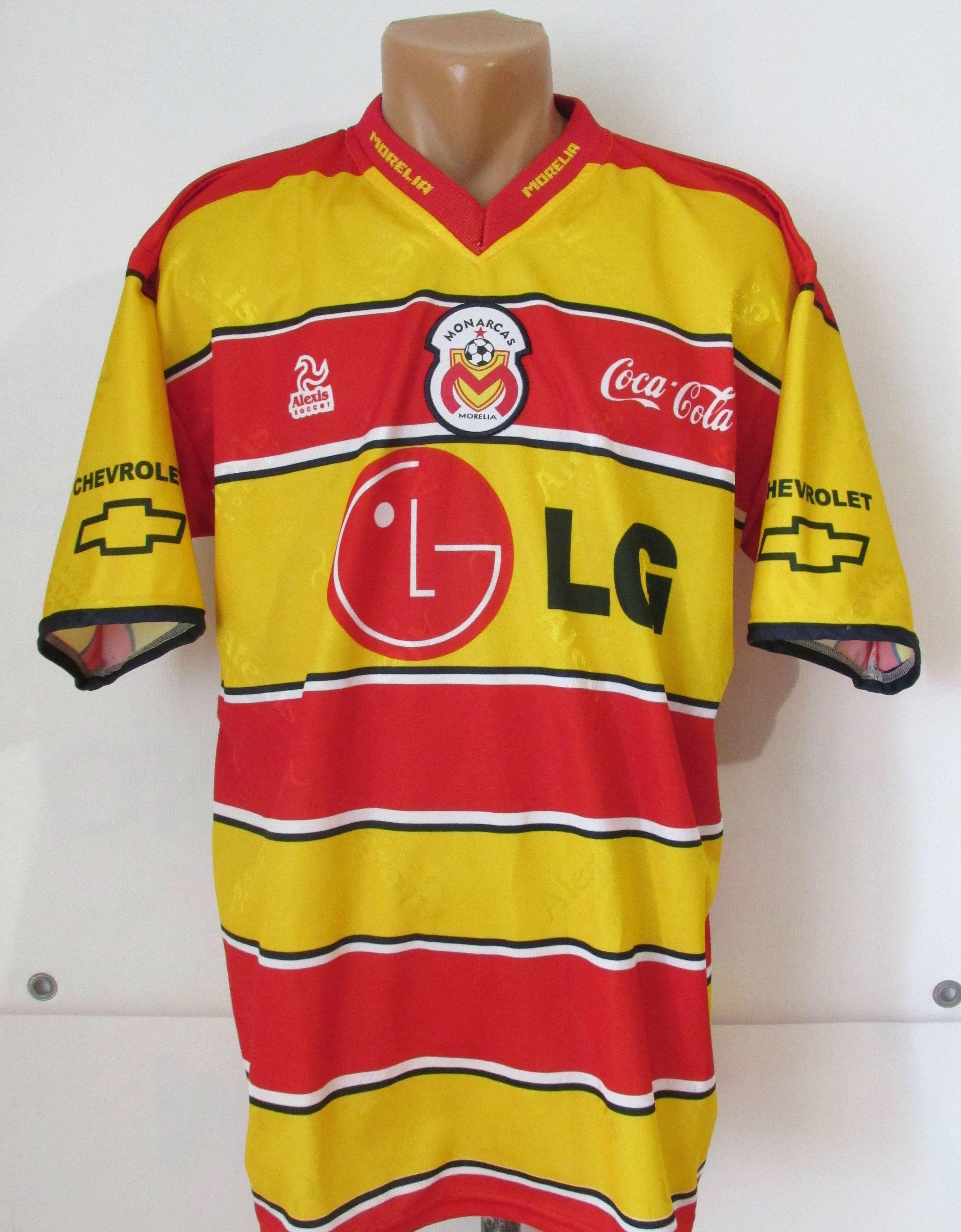 ac9be744c Monarcas Morelia 2003 home football shirt by Alexis Soccer Mexico Mexica  morelia jersey  Monarcas  jersey  soccer  football  cocacola  morelia