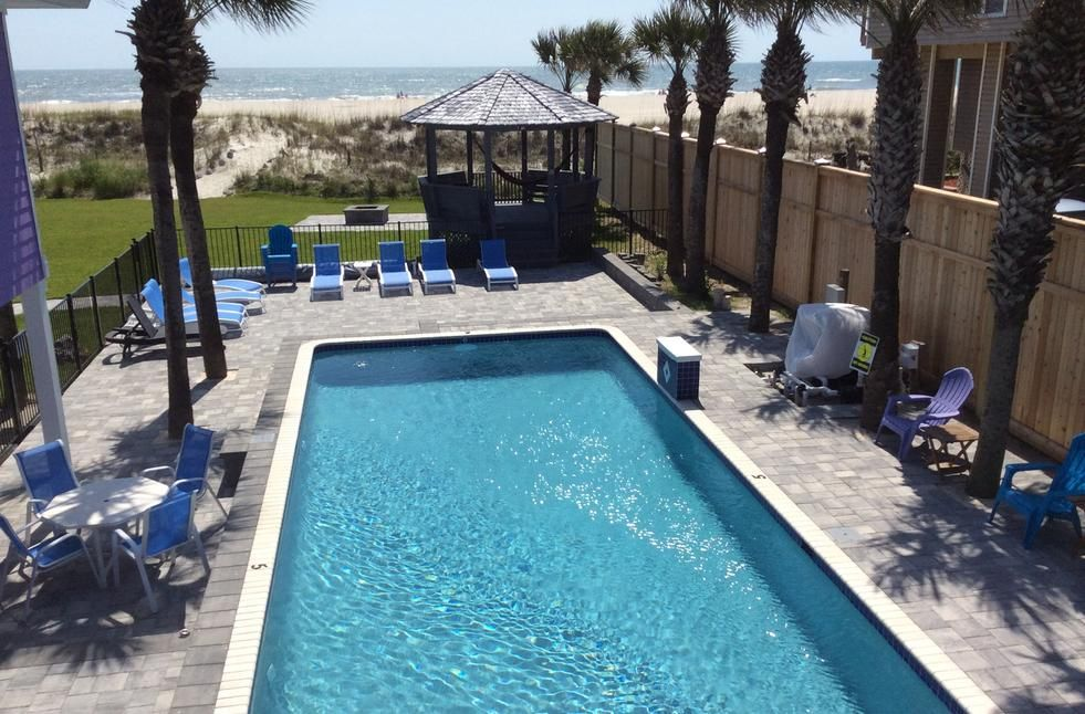 St. Augustine Beach Oceanfront Pool Vacation Rental ...