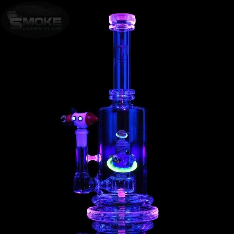 Little Black Pipe Octopus Pipe Illuminati  UV Reactive Glass Pipe