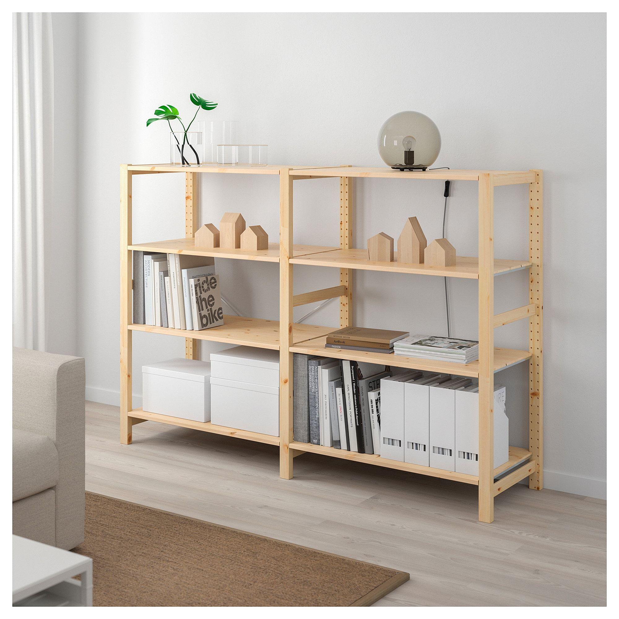 Ikea Ivar Pine 2 Section Shelving Unit Shelves Ikea Inexpensive Furniture