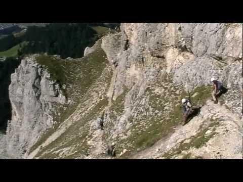 Friedberger Klettersteig : Mit seiner klassifizierung in b ist der friedberger klettersteig