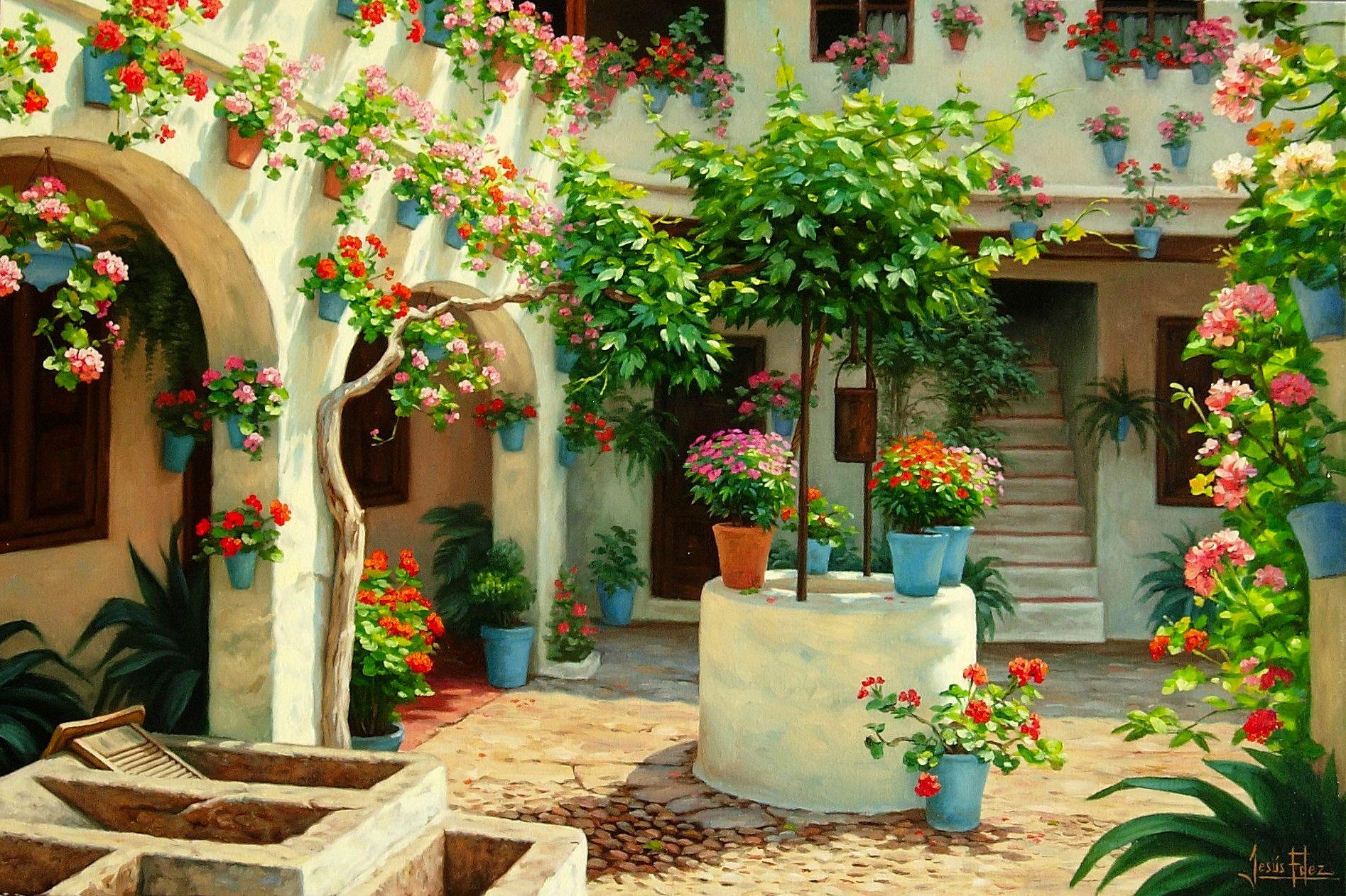Pin de jes s fern ndez en patios andaluces pinterest - Patios con estilo ...