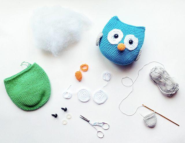 Amigurumi Owl Pattern | crochet | Pinterest | Muñecos de ganchillo ...