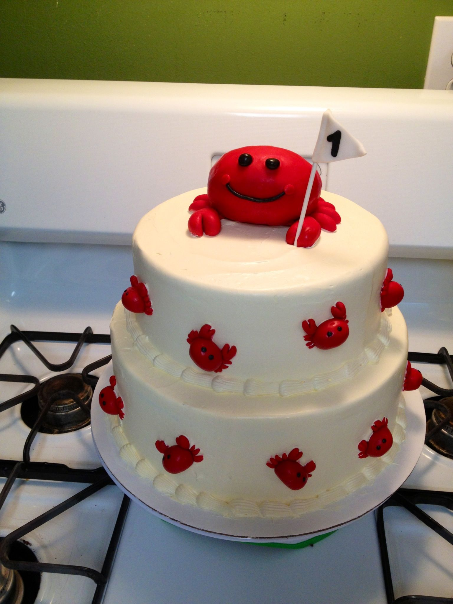 First Birthday Crab Themed Cake Facebook