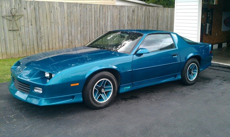 1991 Chevy Camaro RS Rare Teal Color At The Time