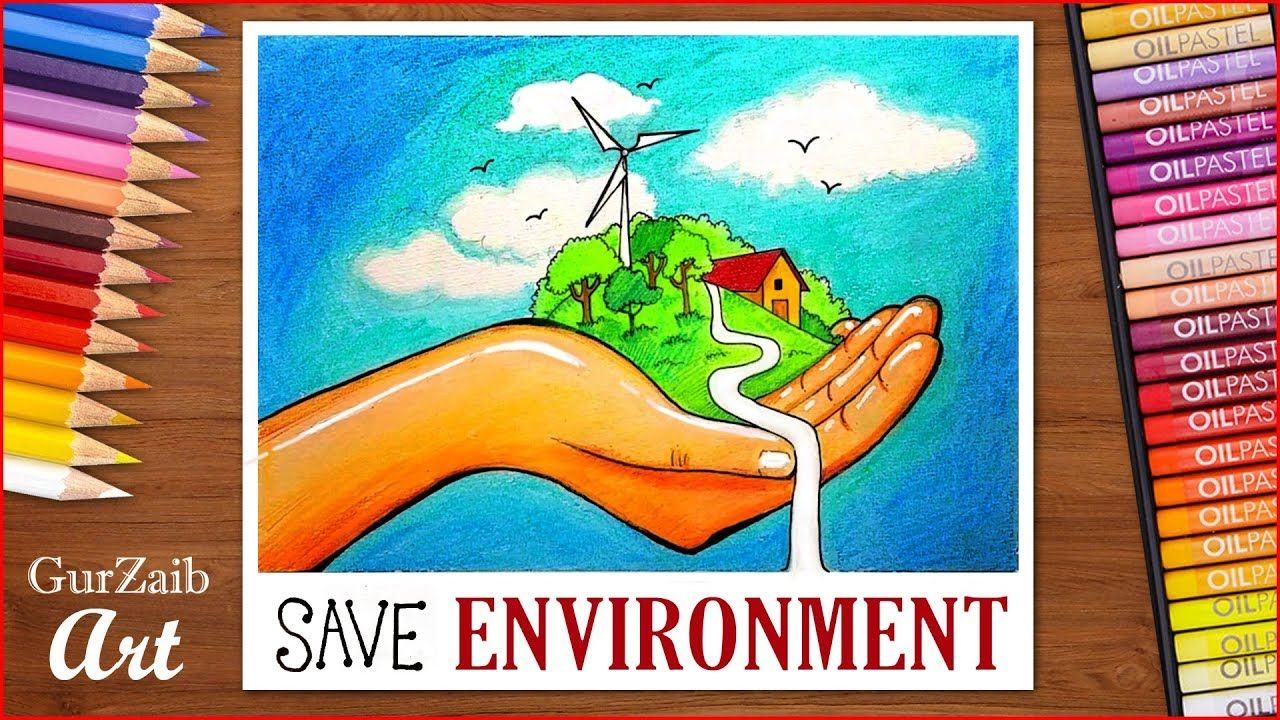 How To Draw Save Environment Poster Chart For School Students Very Easy Save Environment Posters Save Environment Easy Drawings
