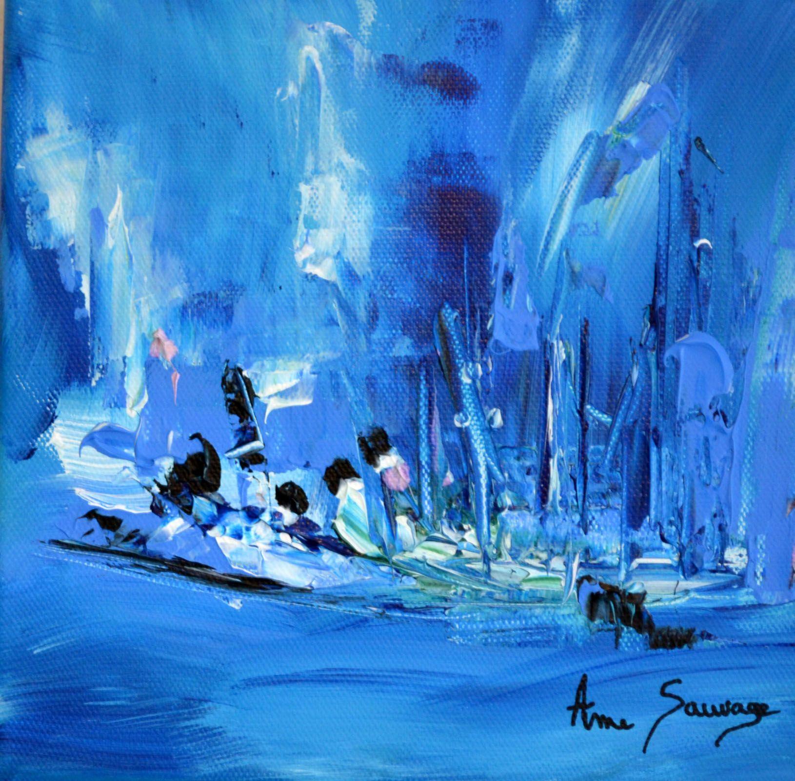 Oeuvre d'art abstraite bleu intitulée initiation, format 20 x 20 cm. 45 €  Tableau abstrait bleu un… | Peinture abstraite, Tableau abstrait, Tableau  abstrait moderne