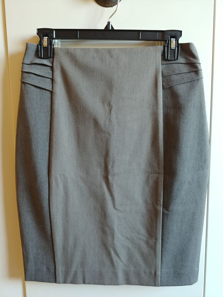 cd2523014 Express Brown Pleated Panel High Waisted Pencil Skirt Size 6 New w/ Tags  #fashion