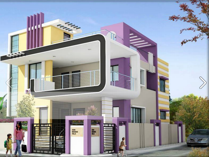 Pin By Brooks Gbalea On Ideas For The House Duplex House Design Modern House Plans Small House Elevation