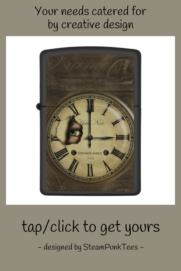 Creepy Paris Vintage Clock Face Zippo Lighter Zazzle Com In 2020 Vintage Clock Clock Face Zippo Lighter