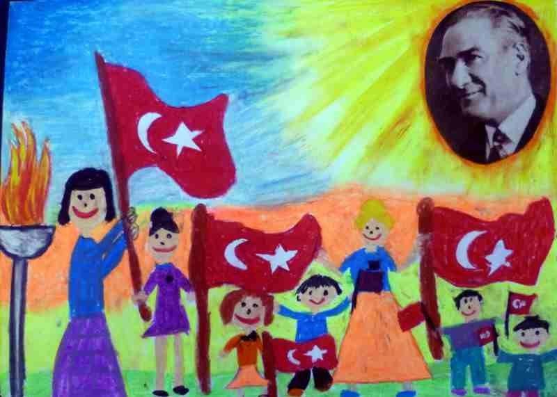 29 Ekim Cizimleri Ogrenciler Icin Cizim Ortaokul Sanati Cizimler