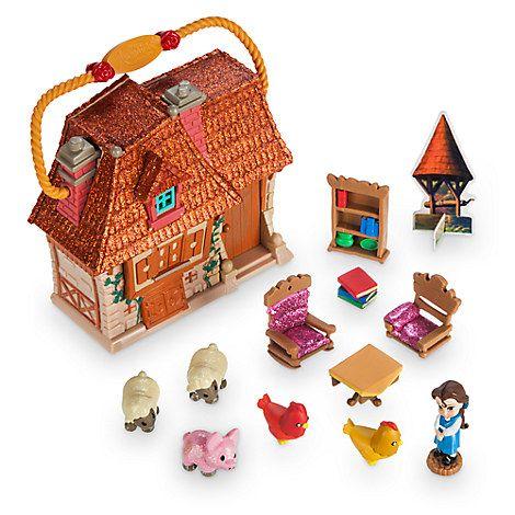 Disney Store Animators Micro Playset Tinkerbell Aurora Cottage /& Accessories