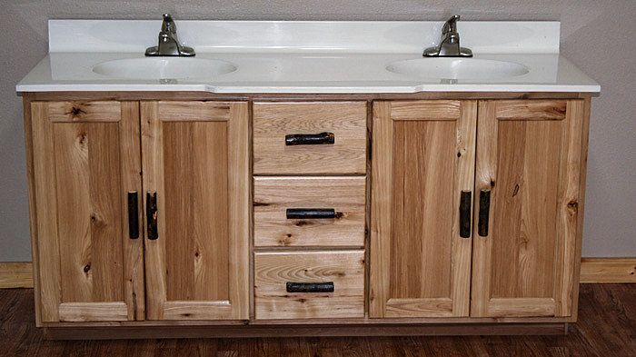 Rustic Hickory Vanity Barn Wood Furniture