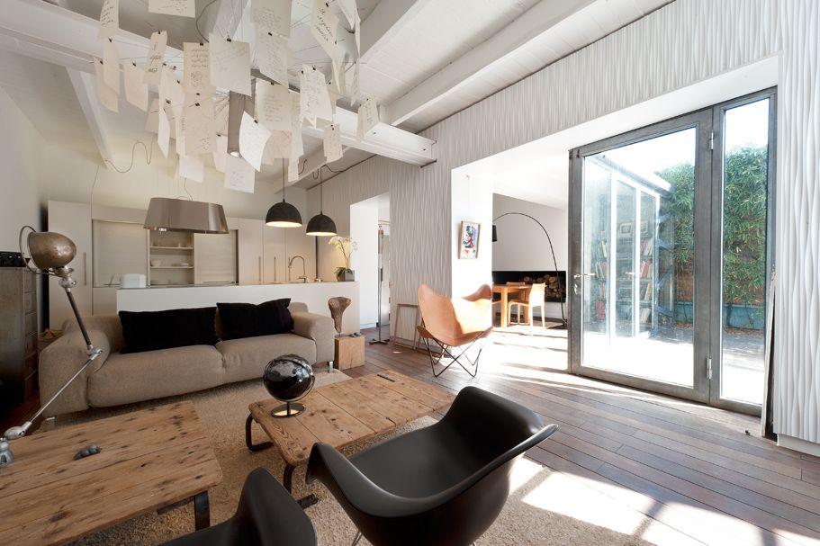 Un mix de mati re donnant un style contemporain la pi ce for Deco interieur contemporain