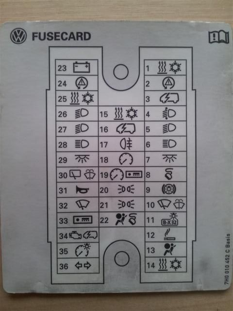 Fuse box diagram?? - Page 4 - VW T4 Forum - VW T5 Forum | VW