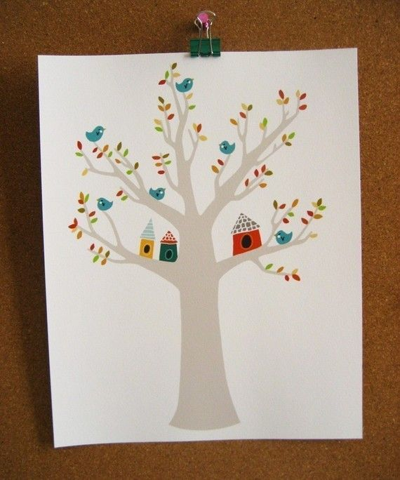 A home in the branches by blackoutwell on Etsy, £12.00