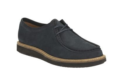 Clarks Glick Bayview - Navy Nubuck - Womens Casual Shoes | Clarks