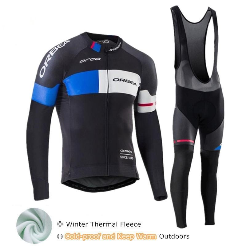 f7be73e01 Orbea 2018 Long Sleeve Cycling Jersey Set Mtb Winter Bike Wear Clothes  Maillot Ropa Ciclismo Thermal Fleece Cycling Clothing Men.