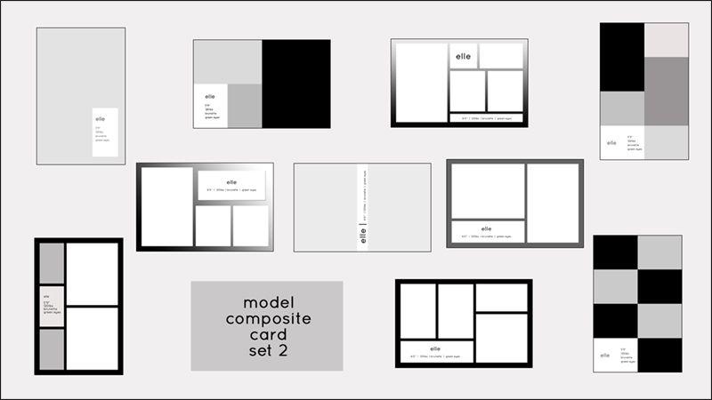 Model Comp Card Templates | Model Composite Card Templates | PSD ...