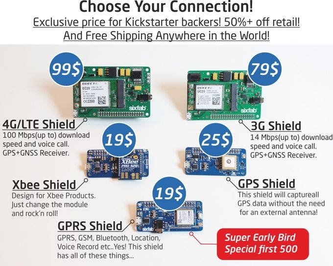 Lets Connect! The Raspberry Pi Internet of Things Shield Family, is