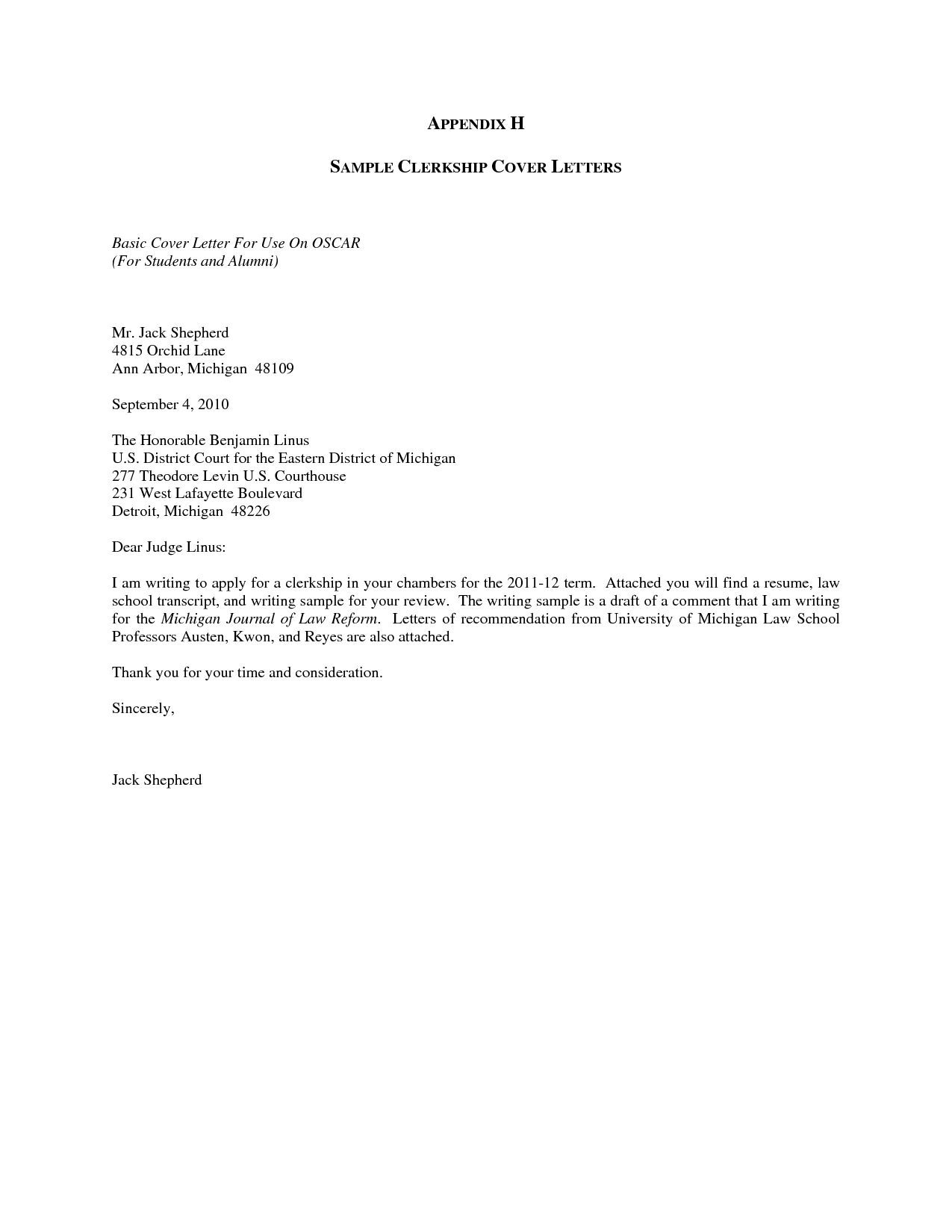 Certification Letter For Law School Basic Cover Sample Template