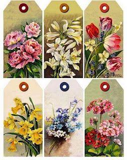 Etiquetas floral