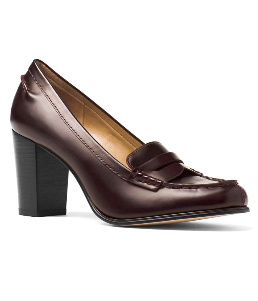 75c0d613517f Michael Kors Bayville Loafer Pumps Damson Leather Size 7  (Brownish w   Burgundy)  MichaelKors  PumpsClassics