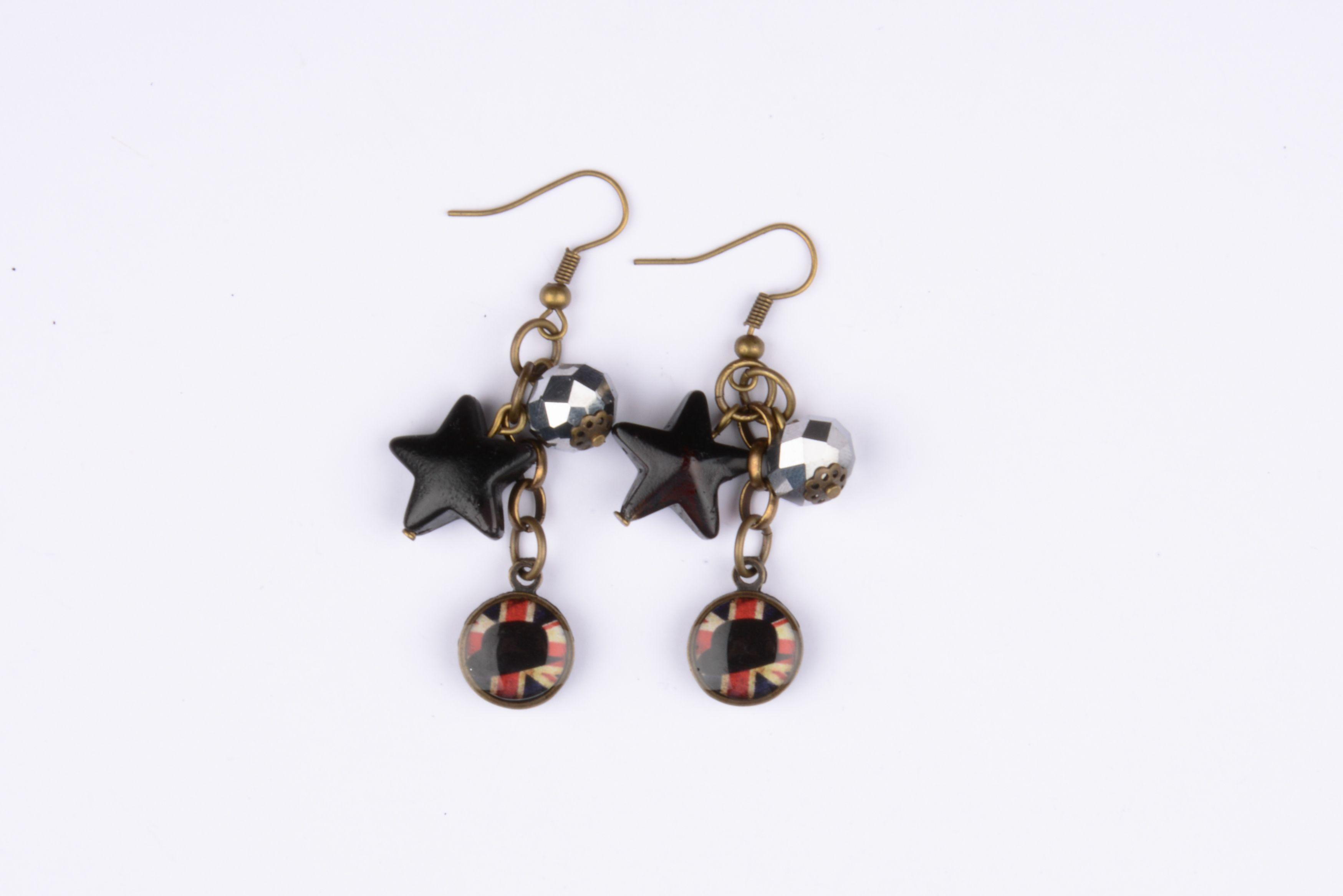 Boucles d'oreilles - collection So British litchi.fr