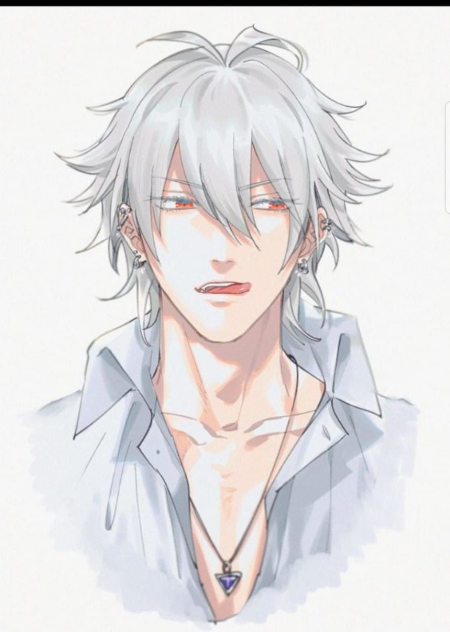 Pin By Carolina On Hypnosis Mic White Hair Anime Guy Anime Hair Anime Guys