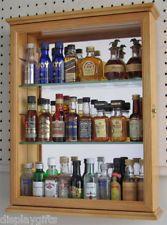 Miniature Perfume / Liquor Bottles Display Case Cabinet , PFCD06-OA
