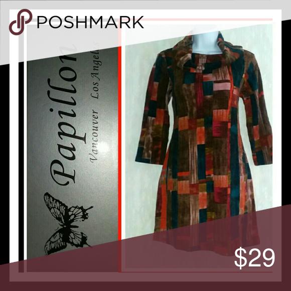 cf9338e46faf Papillon Colorblock Cowl Neck Sweater Dress Gorgeous
