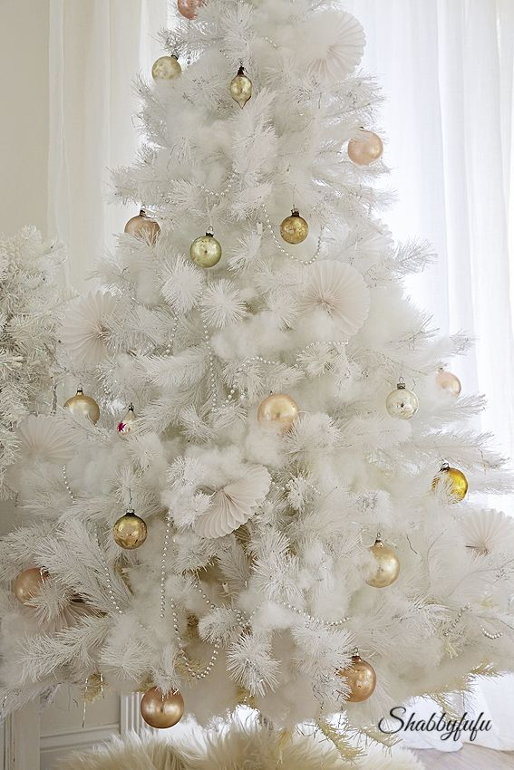 Christmas In The Master Bedroom With A White Tree Christmas