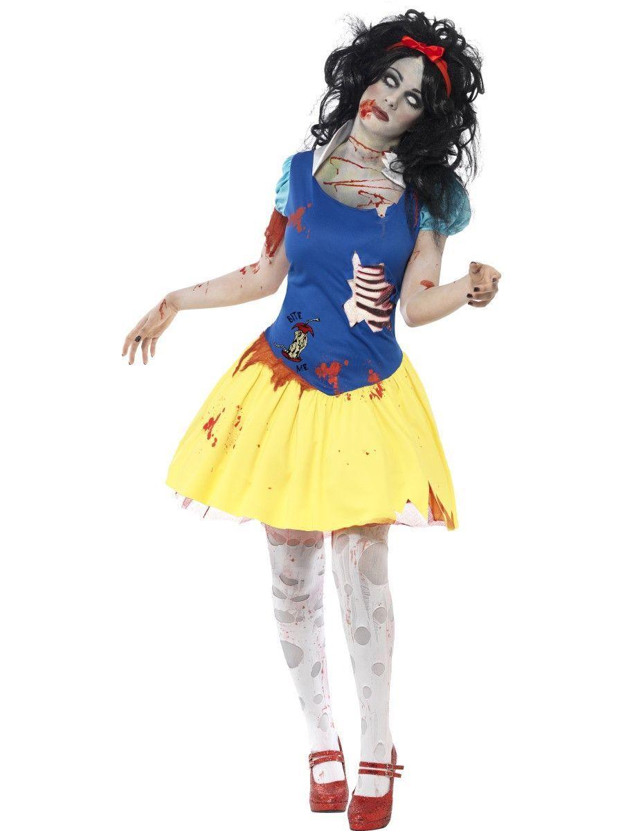 Women's Zombie Snow Fright Costume - Halloween fancy dress, Horror costume, Princess fancy dress ...