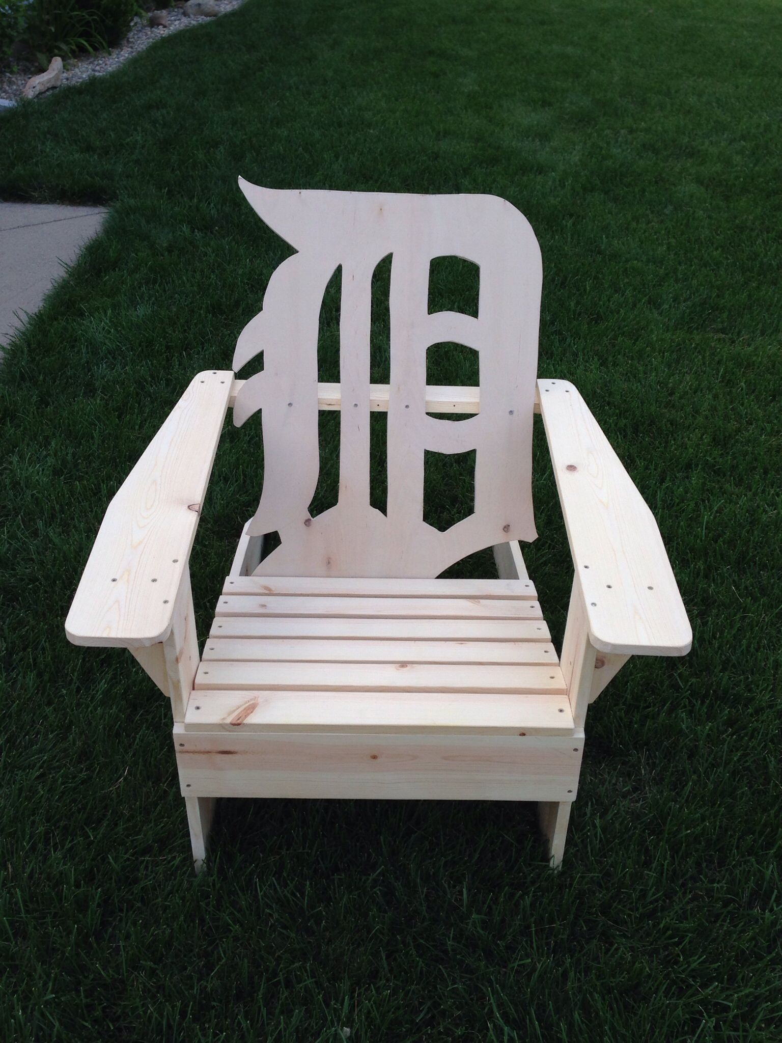 michigan adirondack chair stool vintage old english d detroit tigers