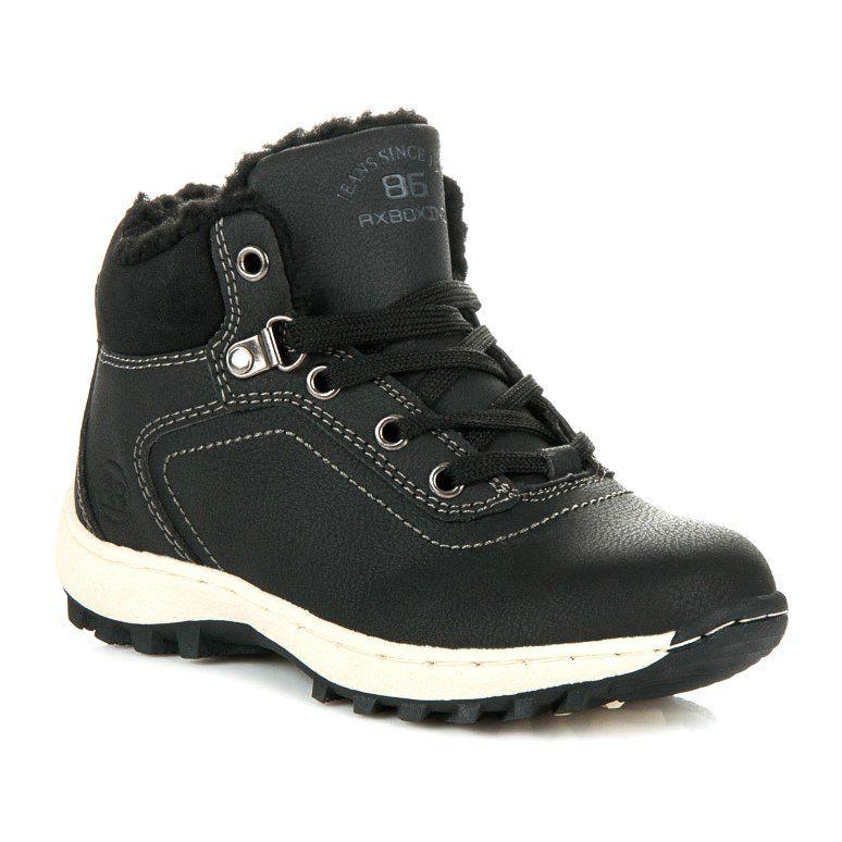 Ax Boxing Zimowe Obuwie Dzieciece Czarne Hiking Boots Boots Shoes