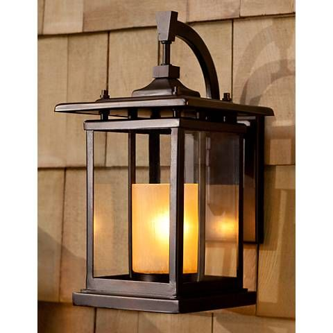 Foxmoore Collection 14 1 2 High Bronze Outdoor Wall Light