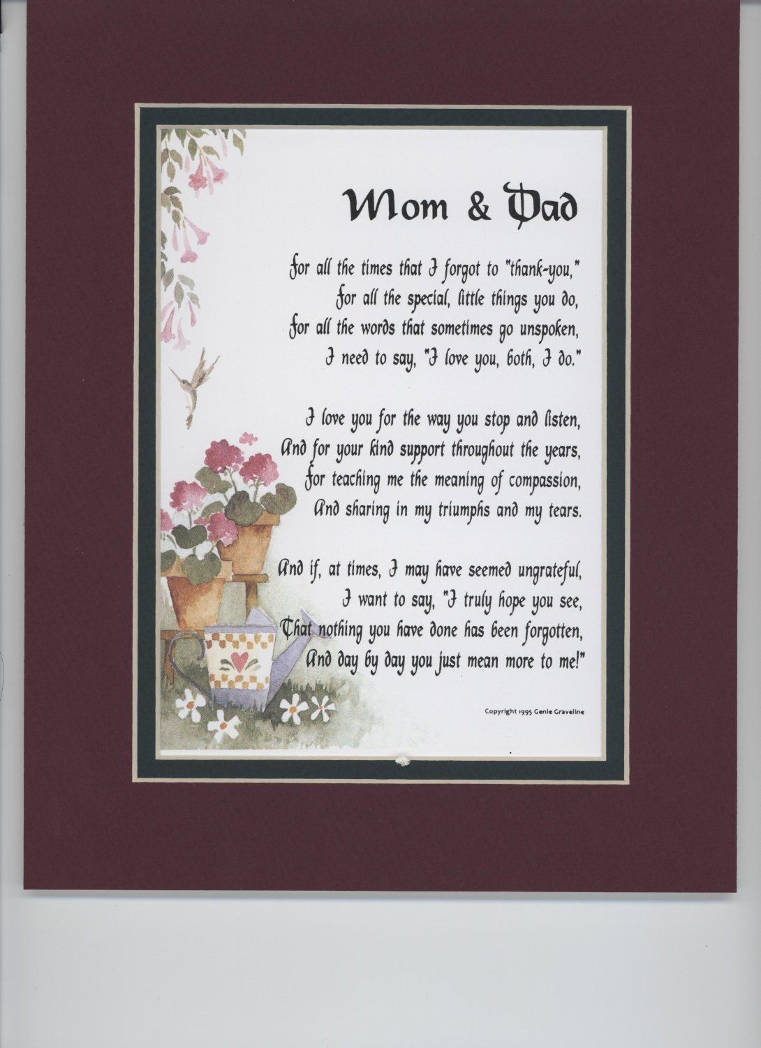 Heavenly anniversary poems special 30th wedding for Great wedding gifts for parents