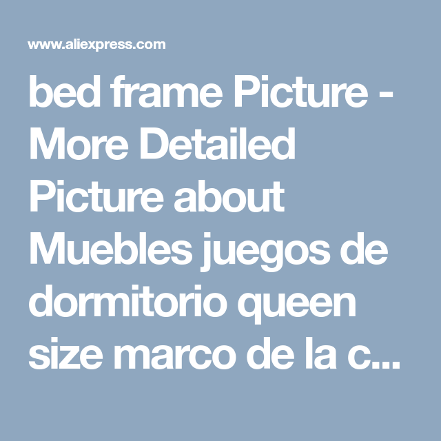 bed frame Picture - More Detailed Picture about Muebles juegos de ...