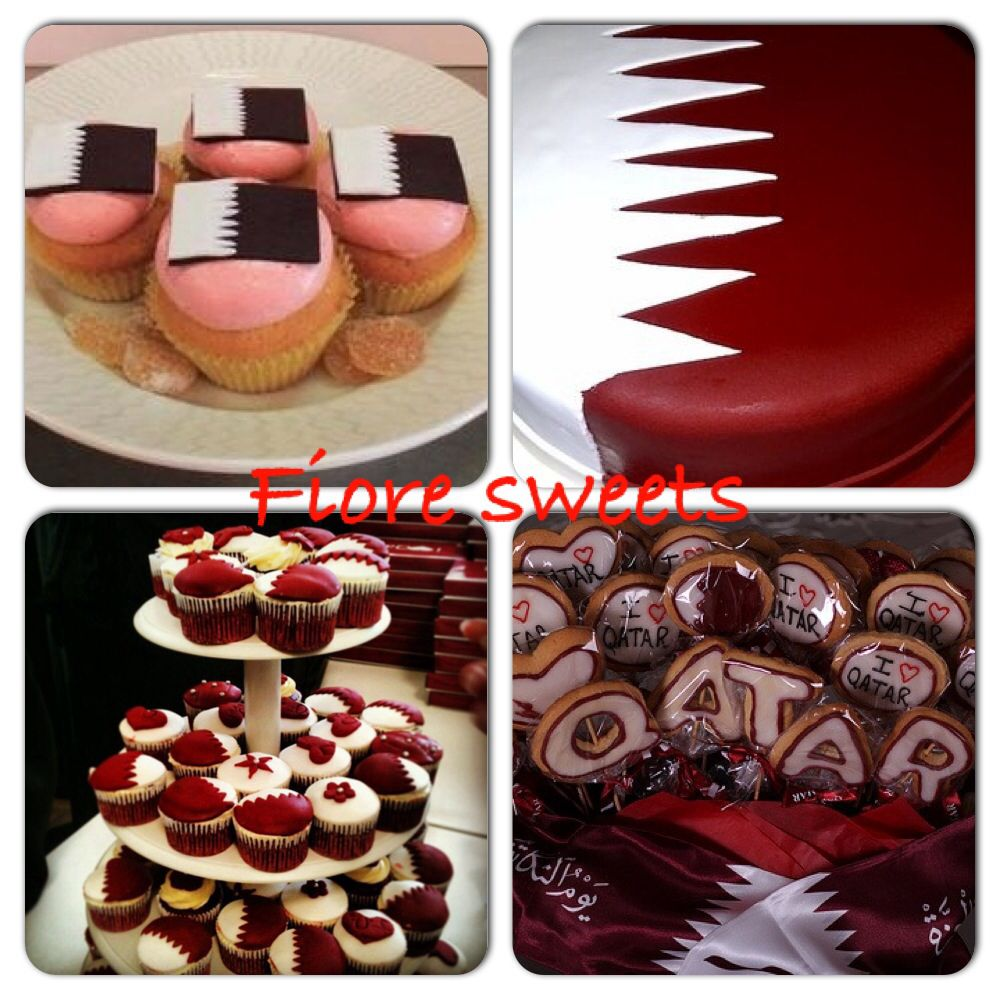 Cake Decoration Qatar : Qatar national day cake & cookies Desserts Pinterest ...