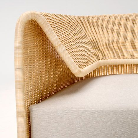 Amazing A Curved Rattan Structure Forms The Flexible Backrest Of This Sofa. Pictures