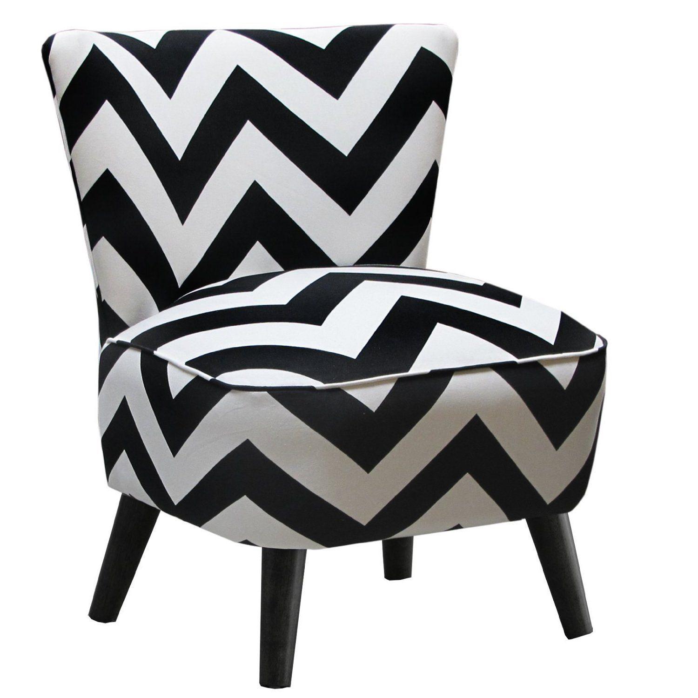 Amazon.com: Skyline Furniture Mid Century Modern Chair In Zig Zag Black And  White