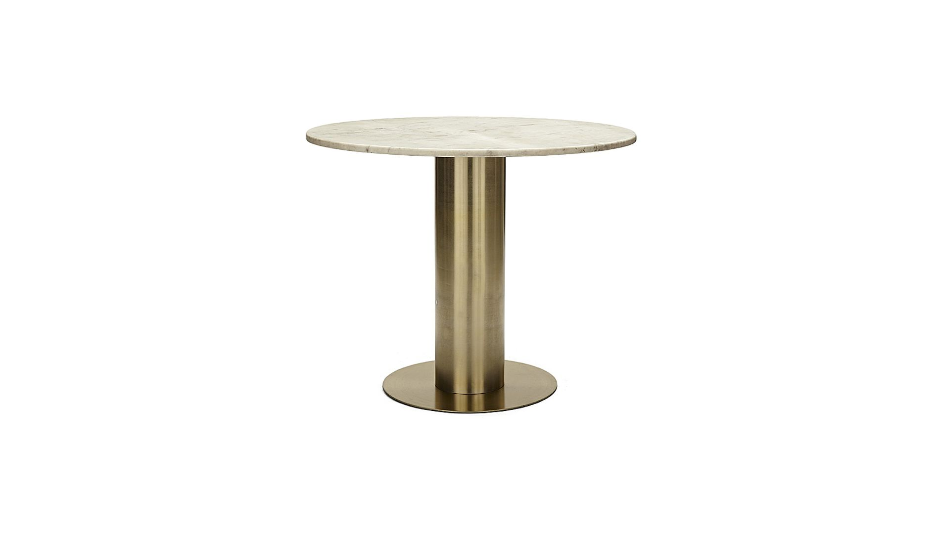 Tom Dixon Couchtisch Tom Dixon Tube Screw Marmor Tischplatte Mit Messingfuß