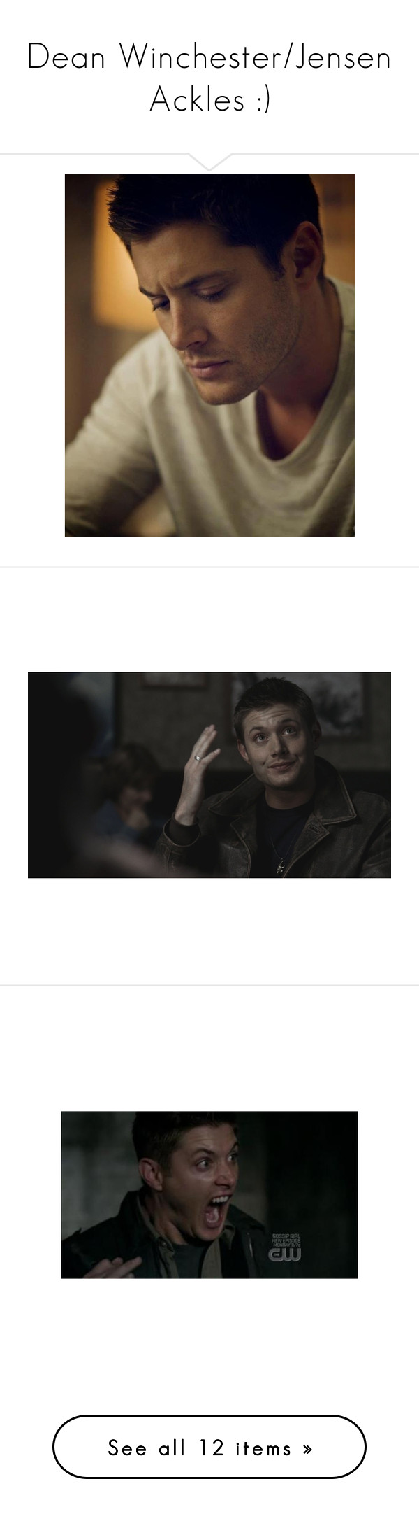 Dean Winchester Jensen Ackles By Nerdbucket Liked On