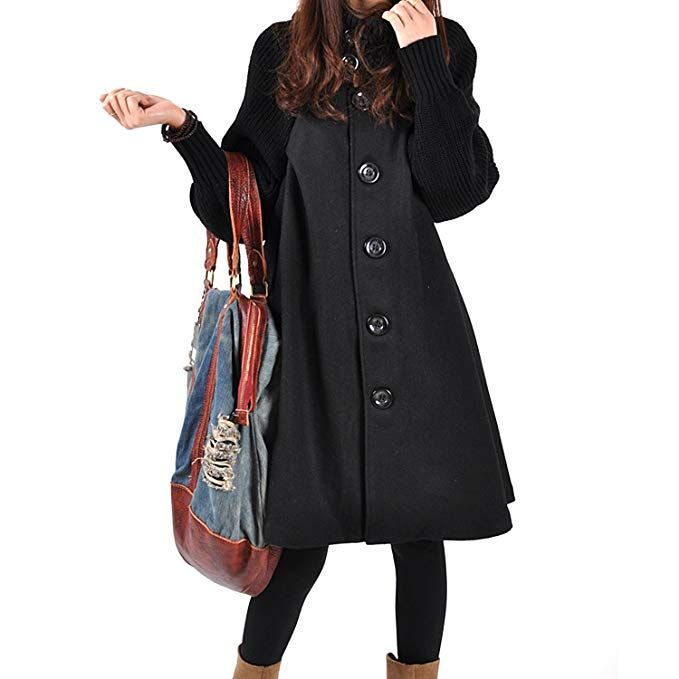 better info for on feet shots of Donna Lunga Cappotto di Lana Blended Invernale Giacca ...
