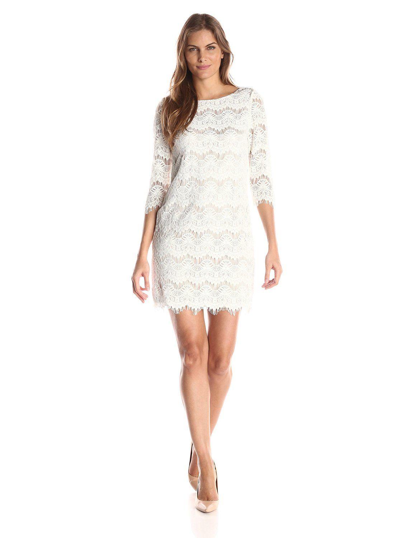 Robot Check Lace Shift Dress Shift Dress Dresses [ 1500 x 1154 Pixel ]