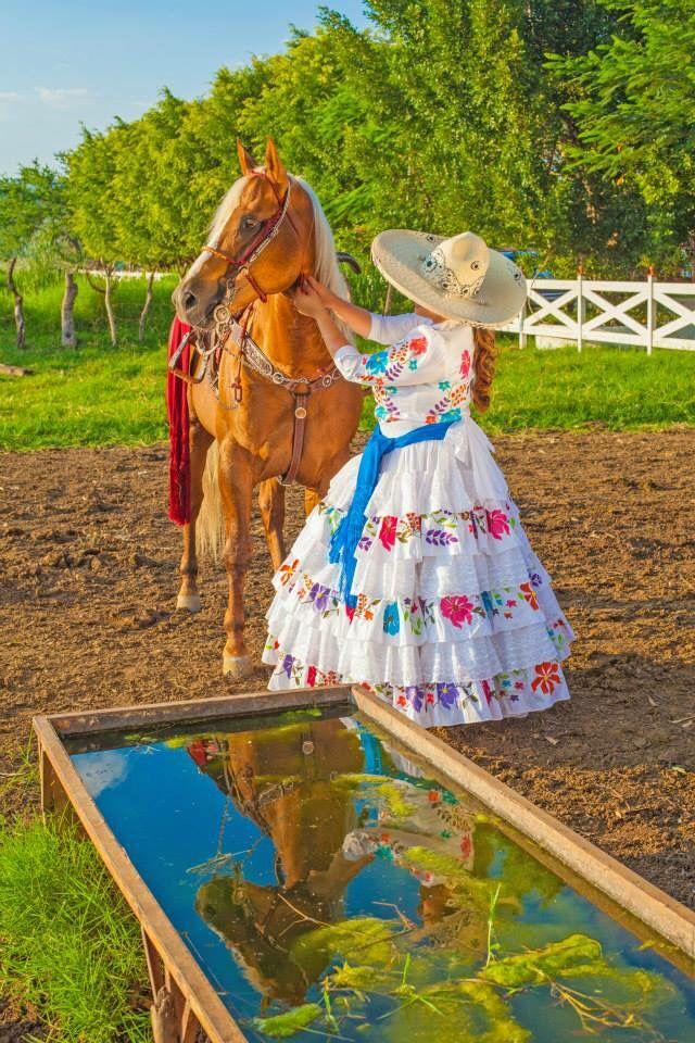 Escaramuza charra | charreria | Mexican dresses, Mexico ...
